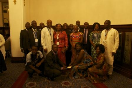 Ghanaian delegates at Gala dinner